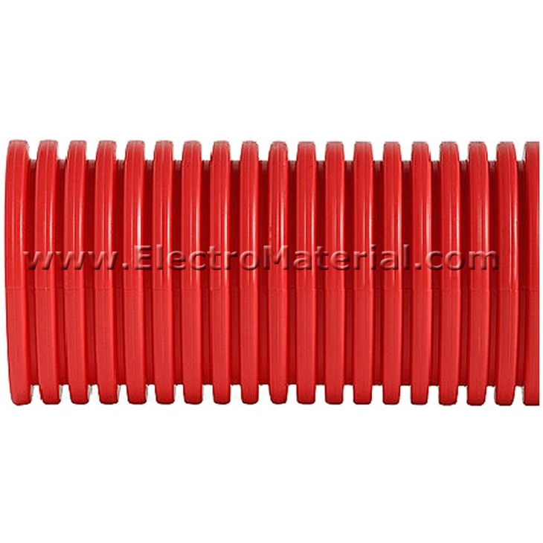 Tubo canalizacion doble pared rojo de 50 mm electromaterial - Tubo corrugado rojo ...