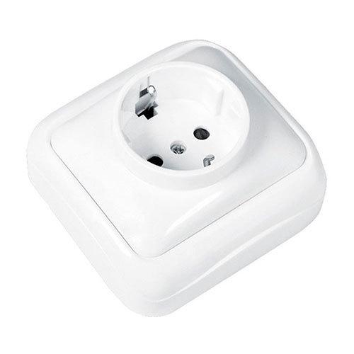 Enchufe de superficie blanco con ttl 10a electromaterial - Precio de enchufes ...