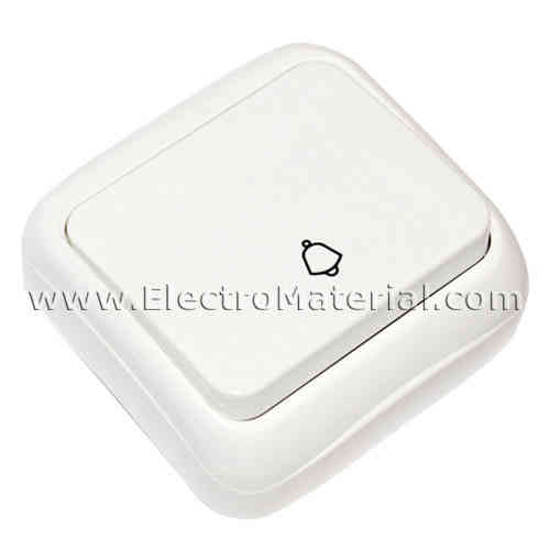 Doorbell push button White Surface