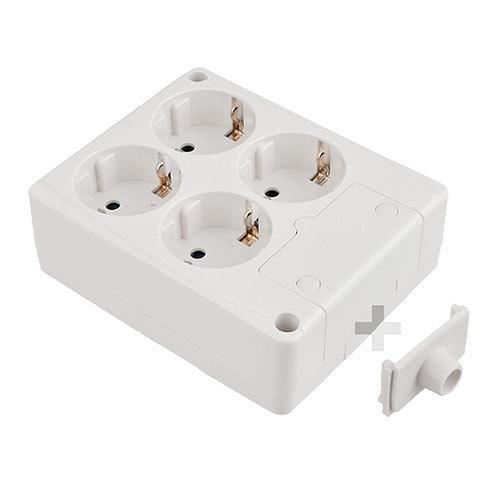 Base de superficie sin cable de 4 enchufes cuadrada - Bases de enchufes ...