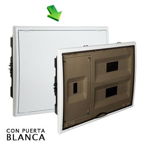 Cuadro el ctrico de empotrar de 24 elem icp con puerta - Cuadro electrico domestico ...