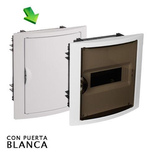 Cuadro el ctrico de empotrar de 8 elementos con puerta blanca - Cuadro electrico domestico ...