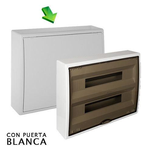 Cuadro el ctrico de superficie de 40 elementos con puerta - Cuadro electrico domestico ...