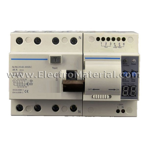 chint diferencial rearmable 4x40x300 ma electromaterial