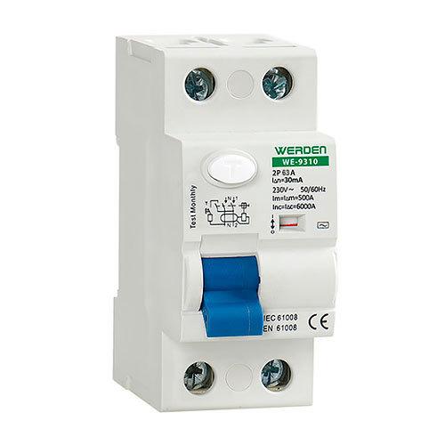 Diferencial 2 polos x 63 a x 30 ma werden electromaterial - Interruptor diferencial precio ...