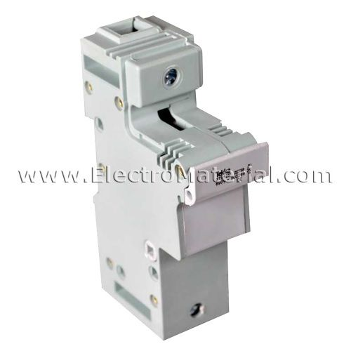 DIN rail fuse holder for cylindrical fuse T-0 10x38