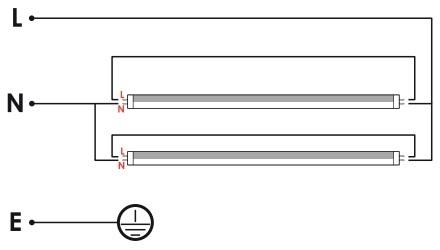 Pantalla estanca ip65 para 2 tubos led de 60 cm - Tubos fluorescentes de led ...