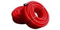 Tubo canalizaci n doble pared rojo electromaterial for Tubo corrugado rojo precio