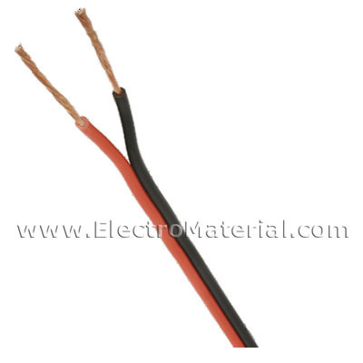 Parallel cable audio Bicolor (Red/Black) 2x1 mm