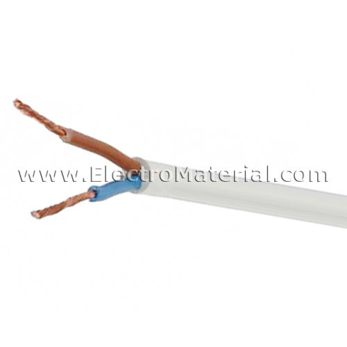 Cable manguera blanca H05VV-F 2x1 mm