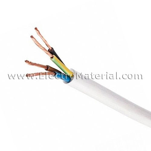 Cable manguera blanca H05VV-F 4x1,5 mm