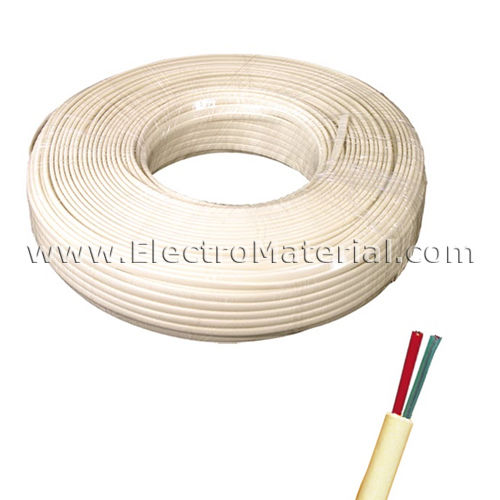 Telephone Cable 1 pair Ivory | 2 threads 0.50mm