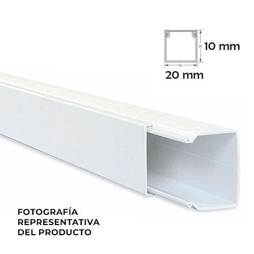 Minicanal de 2 metros en blanco de 20x10 mm electromaterial - Precio canaleta pvc ...