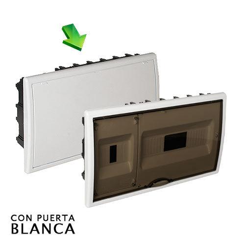 Cuadro el ctrico de empotrar de 12 elem icp con puerta - Cuadro electrico domestico ...