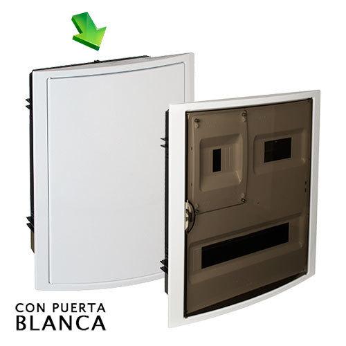 Cuadro el ctrico de empotrar de 20 elem icp con puerta - Cuadro electrico domestico ...
