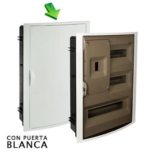 Cuadro el ctrico de empotrar de 30 elem icp con puerta - Cuadro electrico domestico ...