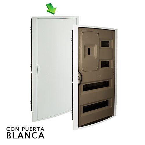 Cuadro el ctrico de empotrar de 40 elem icp con puerta - Cuadro electrico domestico ...