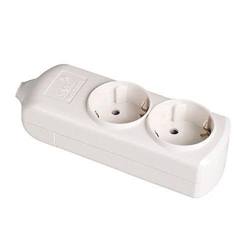 Base de superficie sin cable de 2 enchufes electromaterial - Bases de enchufes ...