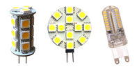 LED BULBS TYPE BIPIN G9 AND G4