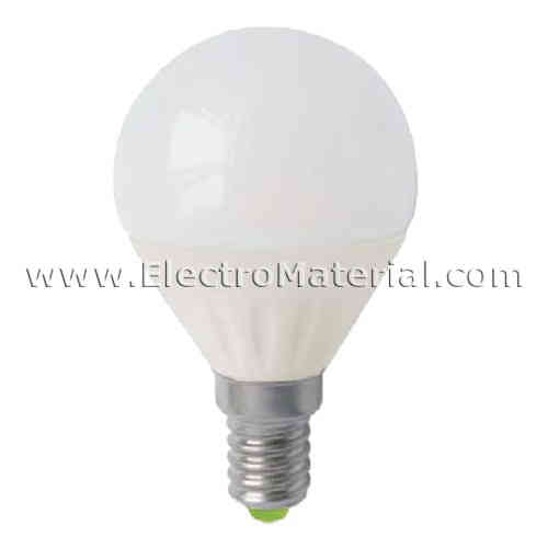 Spherical E-14 5W LED cold light