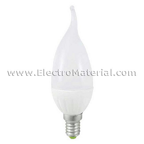 Candle flame tip LED E-14 5W warm light