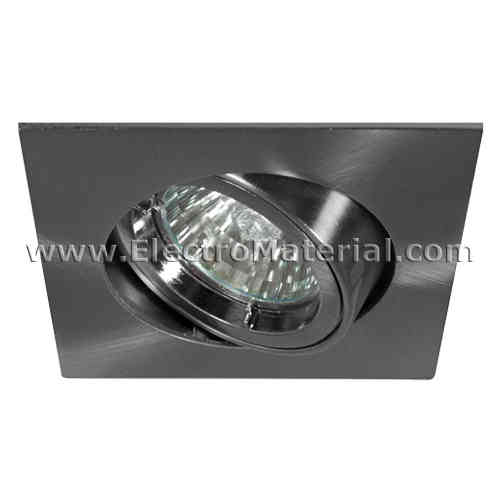 Tilting Square Ring Satin Nickel for 50mm bulb