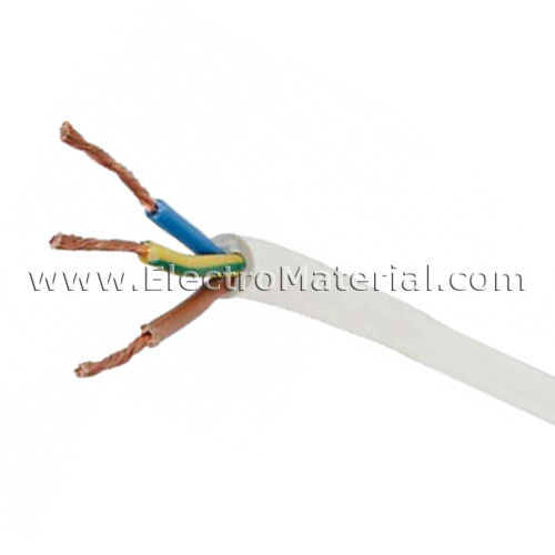 Cable manguera blanca H05VV-F 3x4 mm