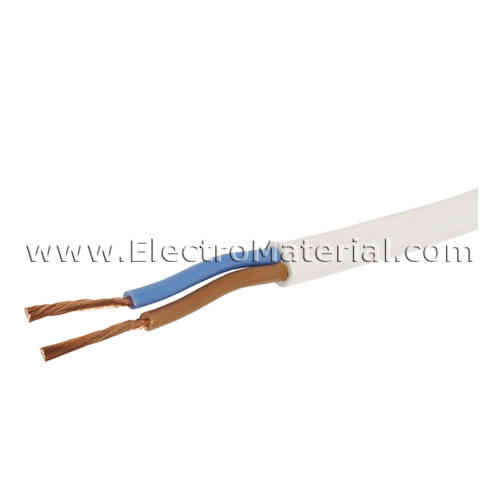 White flat hose cable 2x0,75 mm