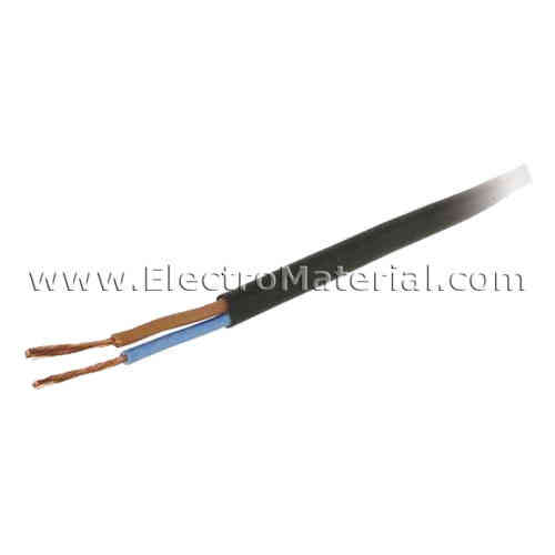Black flat hose cable 2x0, 75 mm