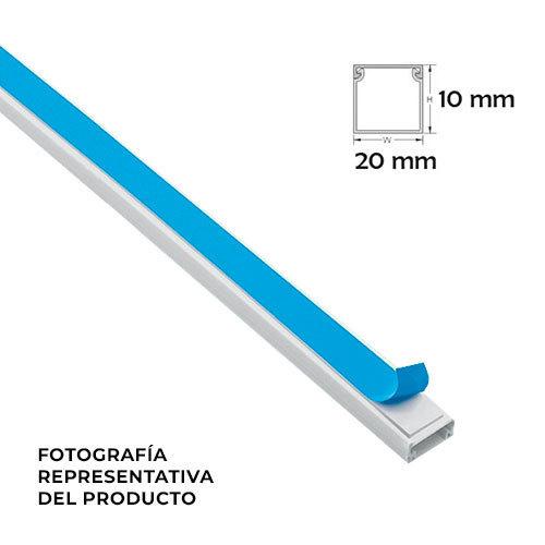 Minicanal adhesivo 2 metros blanco 20x10 mm electromaterial - Precio canaleta pvc ...