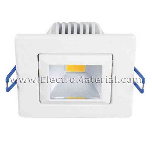 LED spotlight COB square adjustable in White 5W cold light 6000K