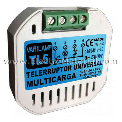 Remote control switch 0W to 500W multiload