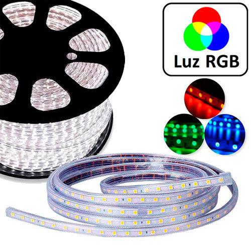 Tira led 220v directa a red tipo smd5050 ip68 luz rgb - Precio tira led ...
