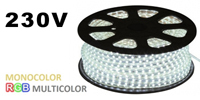 220V LED STRIPS OF DIRECT AND A RED MONOCOLOR RGB