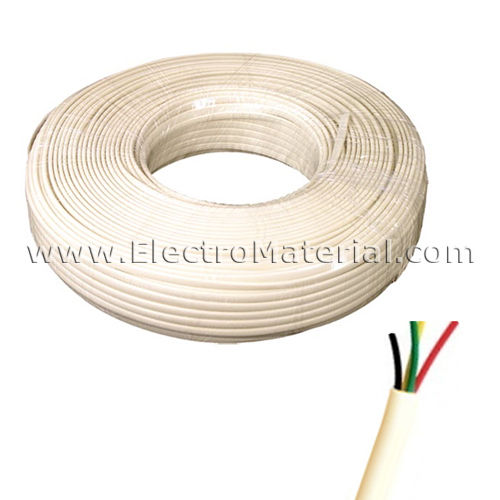 Telephone Cable 2 pair Ivory | 4 threads 0.50mm