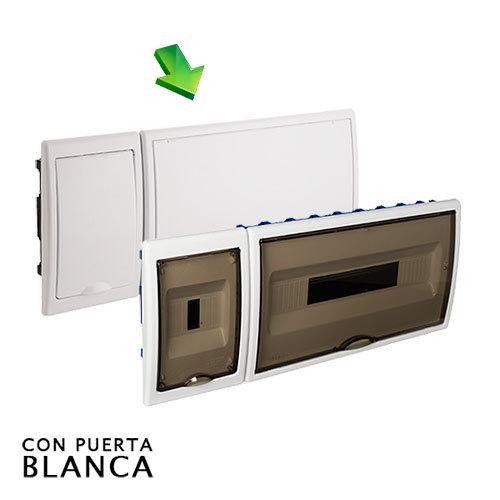 Cuadro el ctrico de empotrar de 18 elem icp con puerta - Cuadro electrico domestico ...