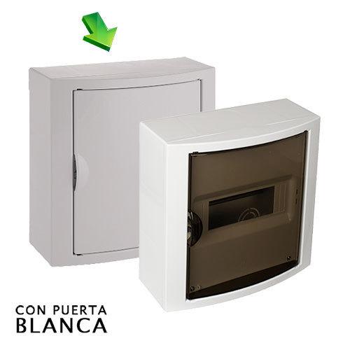 Cuadro el ctrico de superficie de 8 elementos con puerta for Cuadro electrico componentes