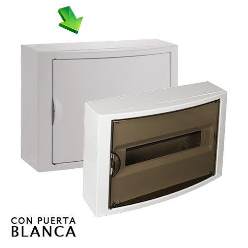 Cuadro el ctrico de superficie de 14 elementos con puerta - Cuadro electrico domestico ...