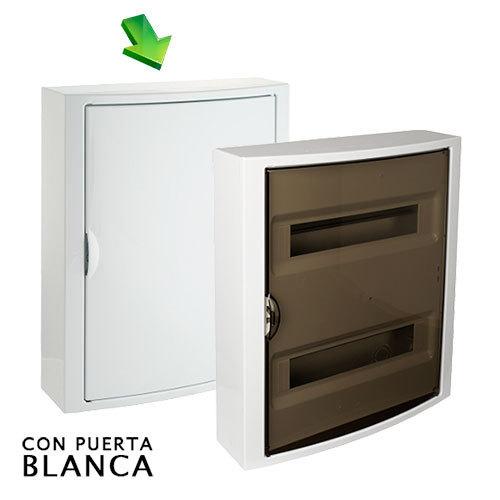 Cuadro el ctrico de superficie de 28 elementos con puerta - Cuadro electrico domestico ...