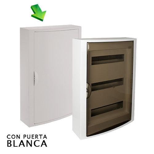 Cuadro el ctrico de superficie de 42 elementos con puerta - Cuadro electrico domestico ...