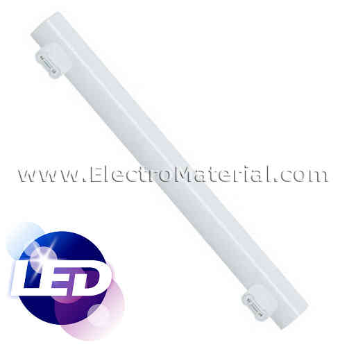 Linestra LED 30 cm 2 contacts S14s with 5W Warm light