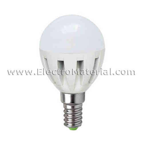 LED spherical E-14 7W Cold light