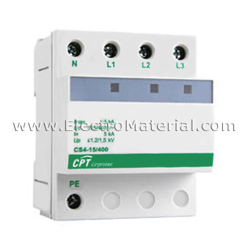CIRPROTEC - Transient overvoltage protection 15 kA three-phase