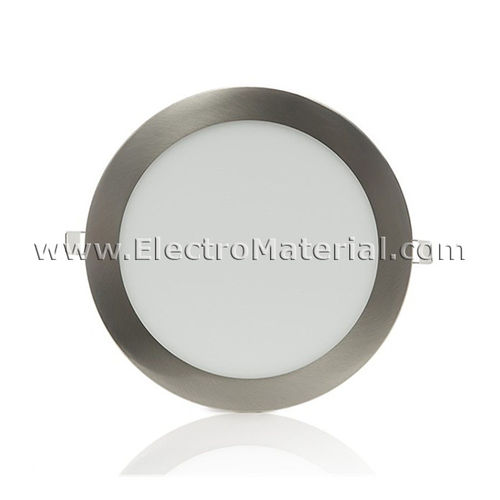 Downlight LED Circular Extra Satin Nickel 9W Warm Light 6000K