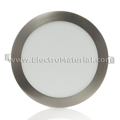 Downlight LED Circular Extra Satin Nickel 18W Cold Light 6000K
