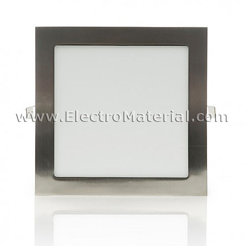 Downlight LED Extra Square Square Nickel Satin 18W Cold Light 6000K