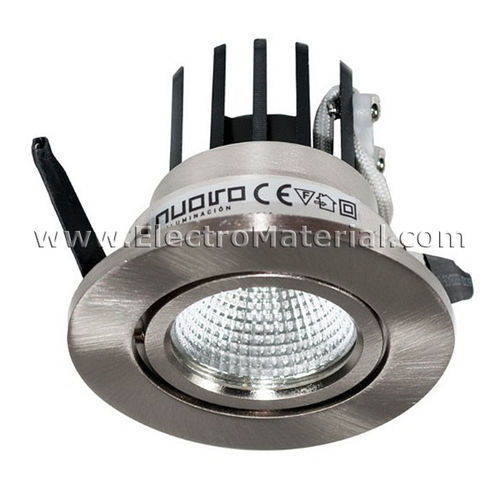 LED Spotlight COB Adjustable Steering Nickel Satin 3W Daylight 4200K