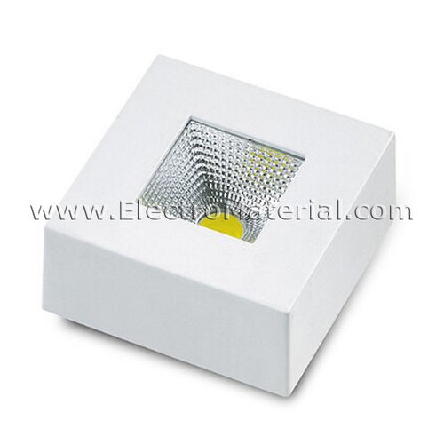 Focus LED COB Square Surface in White 3W Daylight 4200K