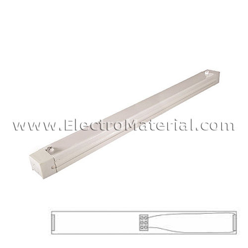 Regleta industrial para 1 tubo LED de 120 cm (No incluido)