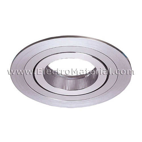 Circular ring in striped aluminum with GU10 cap for 1 light bulb